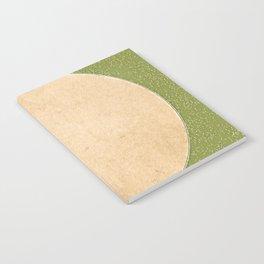 Oregon Moon Minimalism Beige Pepper Green Notebook