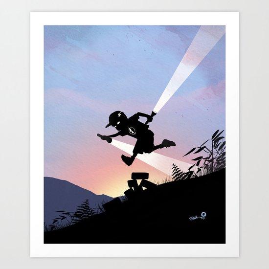 Flash Kid Art Print