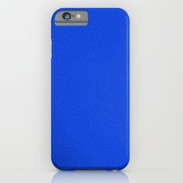 Rough Texture - Plain Royal Blue iPhone Case