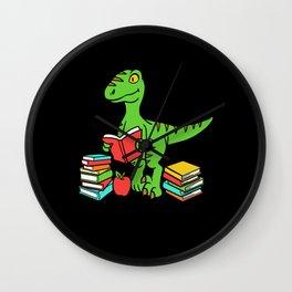 Velocireader Dinosaurs School School Books Motif Wall Clock