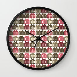 Maison & Jardin - Houses Wall Clock
