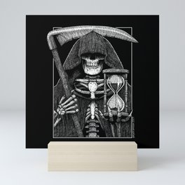Patient Pale Rider - Grim Reaper Mini Art Print
