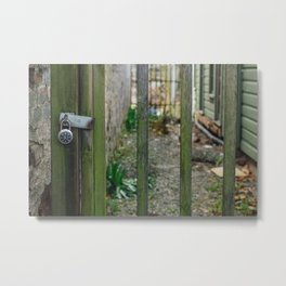 Locked Fence - Seattle, WA Metal Print