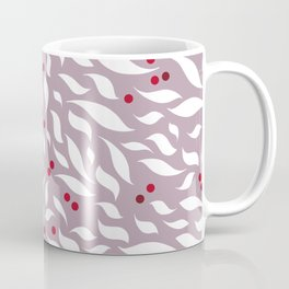 White Leaves Coffee Mug