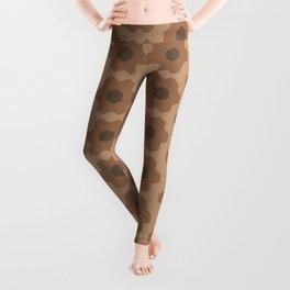 Floral No. 2 -- Brown Leggings