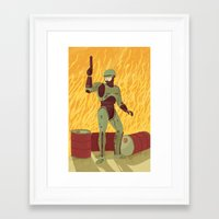 robocop Framed Art Prints featuring Robocop by James White