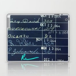 Library Card 23322 Negative Laptop & iPad Skin