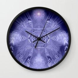 Indigo Tree of Life Mandala Wall Clock