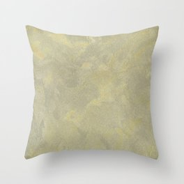 Modern Masters Metallic Plaster - Aged Gold and Silver Fox - Custom Glam Throw Pillow