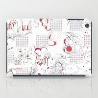 calendar iPad Cases featuring Calendar mess by Dreamy Me