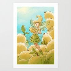 Goblins Drool, Fairies Rule - Lemon Loop Art Print