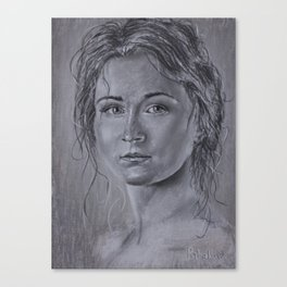 woman portrait in pastel - Amazing Speed Painting | Beautiful Girls Canvas Print