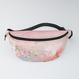 Modern blush watercolor ombre floral watercolor pattern Fanny Pack