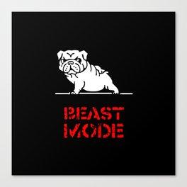 Beast Mode English Bulldog Canvas Print