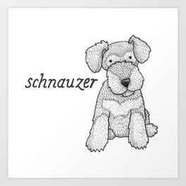 Dog Breeds: Schnauzer Art Print