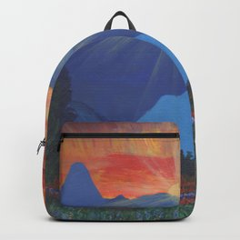 Forest Sunset Over Blue Mountains Backpack