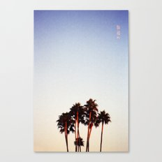 Sunset and Palms Canvas Print