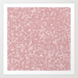 Bridal Rose Polka Dot Bubbles Art Print