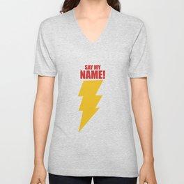 Shazam (Say My Name!) DC Comics Fan Art Unisex V-Neck