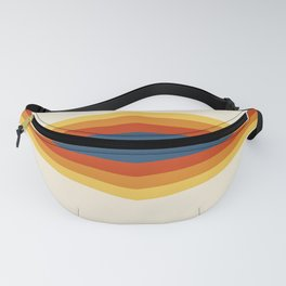 Bright 70's Retro Stripes Reflection Fanny Pack