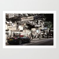 audi Art Prints featuring Audi R8 on the Streets of HKG by Gerald Schömbs