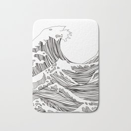 great big wave Bath Mat