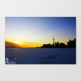 Toronto's Sunset Canvas Print