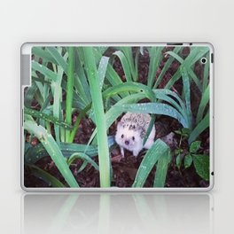 Juni Hedgehog Adventure in Plants Laptop & iPad Skin