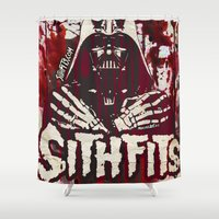 sith Shower Curtains featuring Sithfits - Sith Bloody Sith by Sithfits