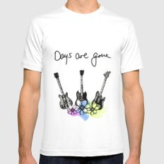 Days are gone White Mens Fitted Tee X-LARGE