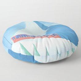 Ski Zermatt Floor Pillow