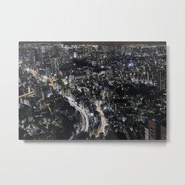 Tokyo by Night, Japan. Metal Print