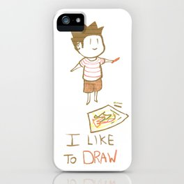 I like to DRAW iPhone Case