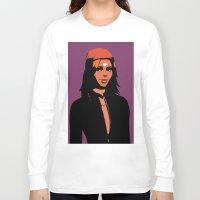 valentina Long Sleeve T-shirts featuring Valentina in minimum by Serhii Bilyk