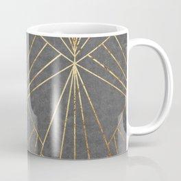 Art Deco in Gold & Grey - Large Scale Coffee Mug