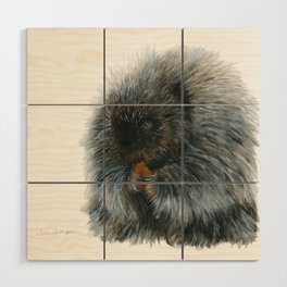 Vinnie the Porcupine by Teresa Thompson Wood Wall Art