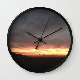 Fired Horizons Wall Clock