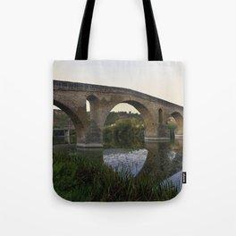 Medieval Bridge - Puente la Reina, Camino to Santiago de Compostela Tote Bag