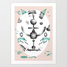 Cat–Dog Art Print