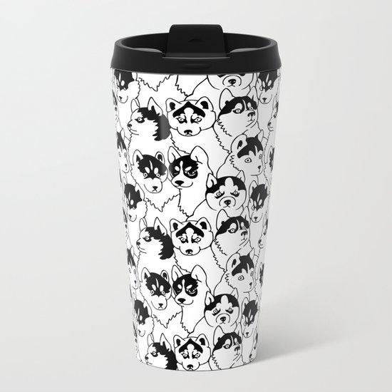 Oh Husky Metal Travel Mug