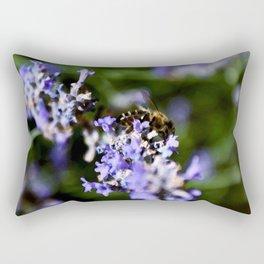 Bee on lavander Rectangular Pillow