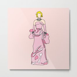 Marilyn Vintage Retro Fashion 1  Metal Print