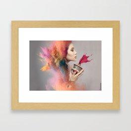 Color Burst - Portrait Framed Art Print