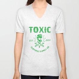 Toxic Supply Co.  Unisex V-Neck