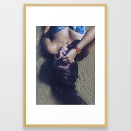 The head on the water Framed Art Print