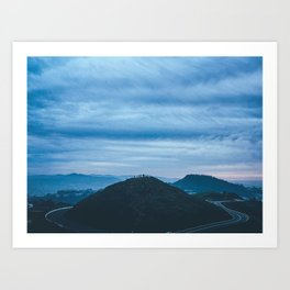 Twin Peaks - San Francisco Art Print