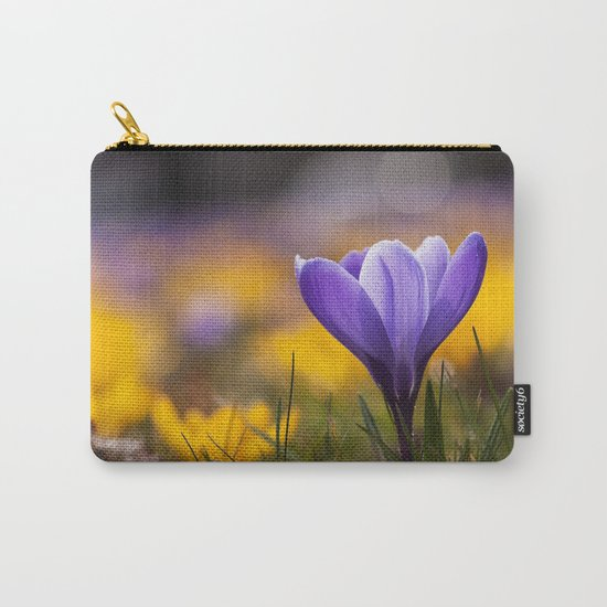 Crocus in a meadow Carry-All Pouch