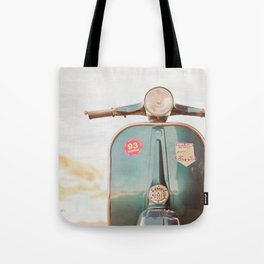 The Blue Vespa Tote Bag