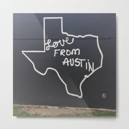 Love From Austin Metal Print