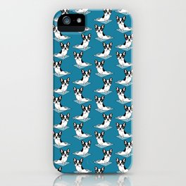Yoga Master Double Hooded Pied French Bulldog iPhone Case